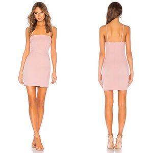 Revolve Superdown Sophie Fitted Pink Mini Dress